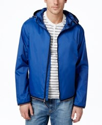 Tommy Hilfiger Men's Full Zip Hooded Raincoat