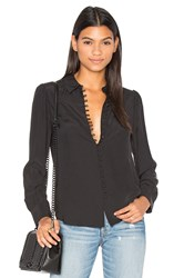 Frame Denim Le Victorian Button Up Blouse Black