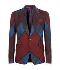 Vivienne Westwood Diamond Argyle Suit Jacket Red