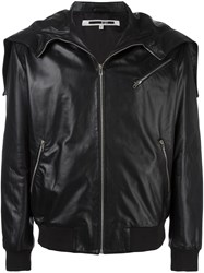Mcq By Alexander Mcqueen Zipped Hood Jacket Black