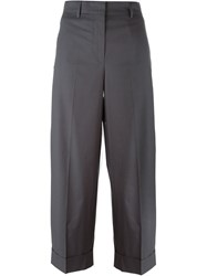 Incotex Wide Leg Trousers Grey