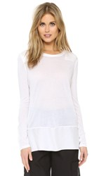 Rag And Bone Riley Long Sleeve Top Bright White