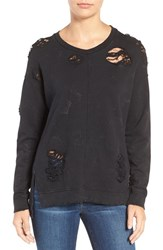 Joe's Jeans Women's Bibiana Destroyed Sweatshirt