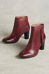 Anthropologie Hudson Mimi Ankle Booties Wine
