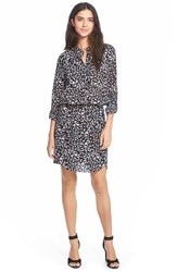 Sam Edelman 'Samantha' Print Shirtdress Black