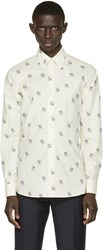 Alexander Mcqueen Cream Dot And Skull Print Shirt