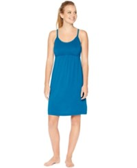 Motherhood Bump In The Night Tm Sleeveless Nursing Nightgown Deep Ocean Teal