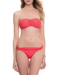 Blush Lingerie Macrame Swim Top Red