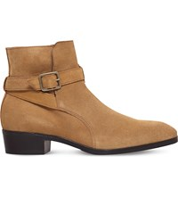 Kg By Kurt Geiger Ludlam Suede Ankle Boots Beige