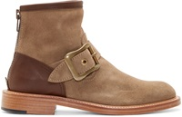 Kolor Taupe Buckled Suede Boots