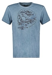 One Green Elephant Edmund Print Tshirt Bluegrey Blue Grey
