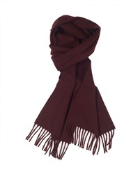 Paul Costelloe Plain Wine Scarf Red
