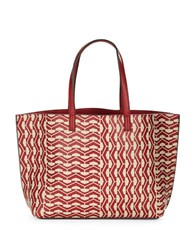 Echo Geometric Patterned Tote Pomegrant