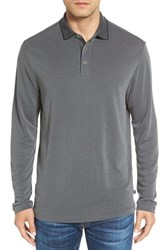 Tommy Bahama Men's 'New Ocean View' Long Sleeve Polo Fog Grey