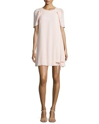 See By Chloe Puffed Short Sleeve Shift Dress Pink