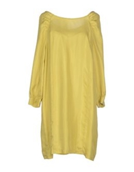 M.Grifoni Denim Short Dresses Yellow