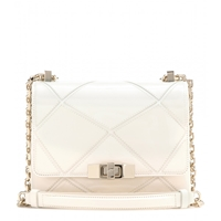 Roger Vivier Mini Prismick Patent Leather Shoulder Bag