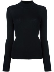 Roberto Collina High Neck Ribbed Jumper Blue