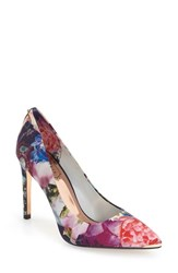 Ted Baker Women's London 'Neevo' Pointy Toe Pump Focus Bouquet Satin