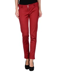 Yes Zee By Essenza Trousers Casual Trousers Women Red