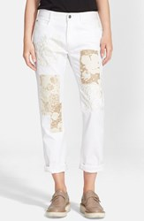 Women's Stella Mccartney 'The Skinny' Embroidered Patchwork Boyfriend Jeans