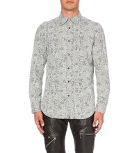Diesel S Five Slim Fit Cotton Shirt White