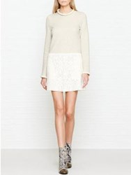 See By Chloe Lace Skirt A Line Dress Grey