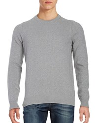 Ben Sherman Textured Crewneck Sweater Silver Chalice