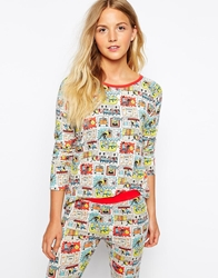Cath Kidston Cops And Robbers Long Sleeve Nightwear Top Copsandrobbers