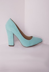 Missguided Block Heel Court Shoes Mint