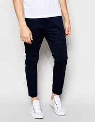 Dr. Denim Dr Denim Slim Tapered Diggler Chino With Turn Up In Deep Blue Deep Blue Navy