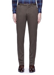 Boglioli Slim Fit Stretch Cotton Chinos Brown