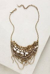 Anthropologie Chainmail Bib Necklace Pink
