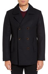 Ted Baker Men's London Wool Blend Peacoat