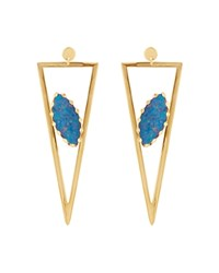Lana Jewelry 14K Yellow Gold Monte Carlo Earrings With Opal