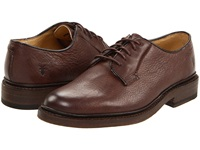 Frye James Oxford Dark Brown Pebbled Full Grain Men's Lace Up Casual Shoes