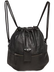 Diesel Leather Drawstring Backpack
