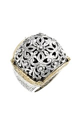 Women's Konstantino 'Silver And Gold Classics' Filigree Ring Silver Gold