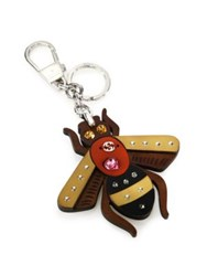 Gucci Bee Key Ring With Crystals Pink Yellow