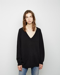 Alexander Wang Cashmere Blend V Neck Sweater Black