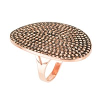 Latelita London St Tropez Ring Rosegold Champagne Zircon Rose Gold Pink Purple