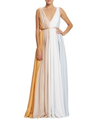 Raoul Sarina Tricolor Pleated Gown Resin Chalk Eraser Resn Chlk Erasr