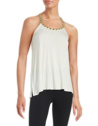 Bench Braided Racerback Tank Top White