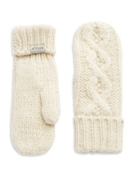 Rella Cable Knit Mittens Natural