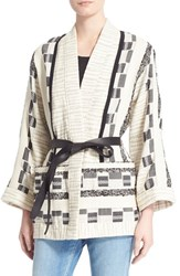 Women's Iro 'Seko' Belted Cotton Blend Wrap Jacket