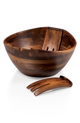 Picnic Time 'Legacy Heritage Collection By Fabio Viviani' Mescolare Salad Bowl Brown
