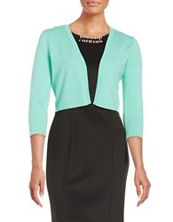 Chetta B Three Quarter Sleeved Cardigan Aqua Mist