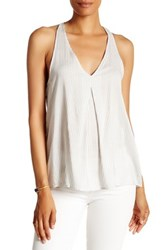 Melrose And Market Woven Racerback Tank Gray