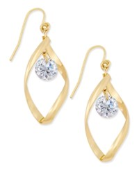 Charter Club Gold Tone Twisted Crystal Drop Earrings Only At Macy's