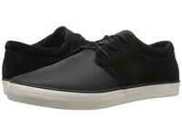 Rip Curl Patrol L Black Coated Leather Nubuck Men's Lace Up Casual Shoes